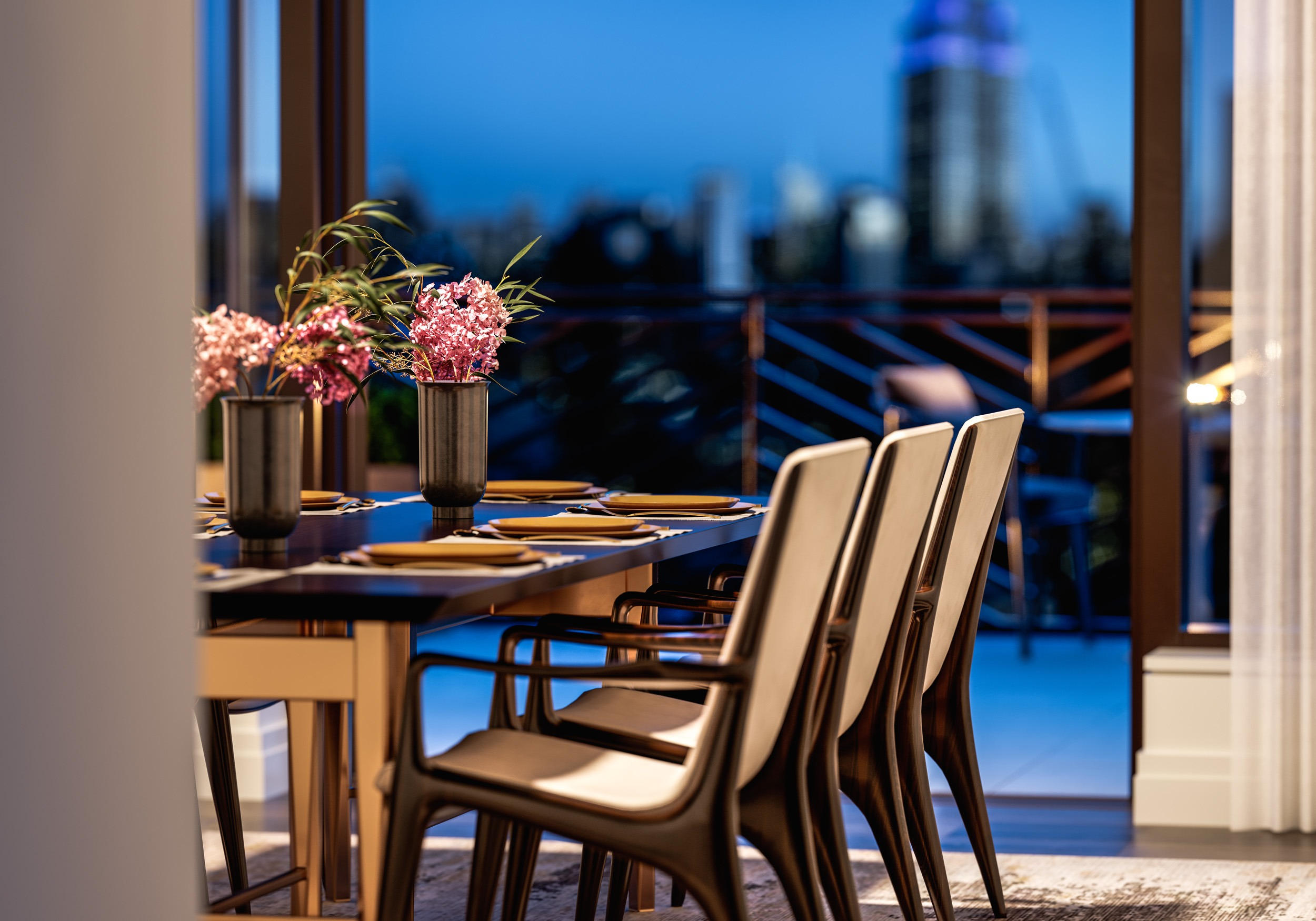 Penthouse Dining Room & Terrace